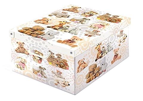 LAVATELLI 660 PEL Peluches Boîte de Rangement Collection Carton Multicolore 50 x 39 x 24 cm