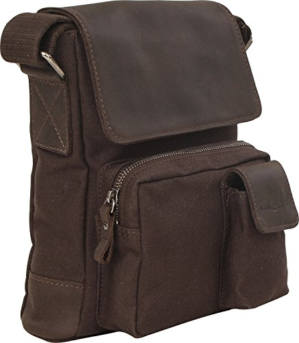 Harold´s WAXCAN Shoulderbag w. Pockets Small, Borsa a spalla donna, Nero (nero), S (Dark Brown)