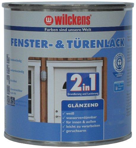 fenster und tuerenlack Wilckens 2-in-1 Fenster- & Türenlack glänzend, 750 ml, weiß 12993000050