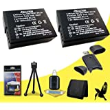 Two Halcyon 1600 MAH Lithium Ion Replacement DMW-BLC12 Battery + Memory Card Wallet + SDHC Card USB Reader + Deluxe Starter Kit For Panasonic Lumix G5 Mirrorless Micro Four Thirds Digital Camera And Panasonic DMW-BLC12