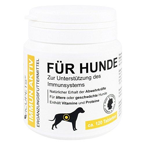 VICUPETS® Immun Aktiv für Hunde | Unterstützung des Immunsystems | Erhalt der Abwehrkräfte | mit Vitamin D3, Vitamin A und Vitamin E | Made in Germany (Bierhefe Tabs)