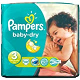 Pampers Baby Dry couches Taille 3 de transport Lot de 30 couches