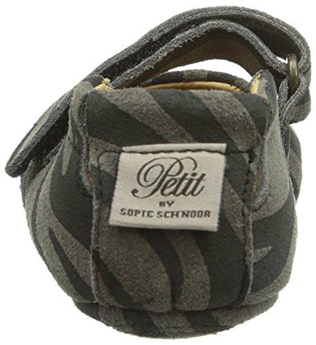 Petit by Sofie Schnoor Suede indoor shoe, Mädchen Flache Hausschuhe Mehrfarbig (zebra)