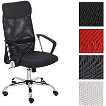 CLP Silla de escritorio WASHINGTON, respaldo ergonómico, altura del asiento: 47 – 55 cm, estructura en metal gris