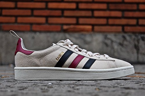 adidas Herren Campus Gymnastikschuhe, Braun (Clear Brown/Core Black/Mystery Ruby F17), 42 2/3 EU (Retro-lifestyle-schuhe)