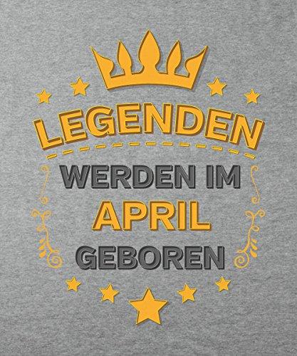 -- Legenden werden im April geboren -- Boys Kapuzenpullover Sports Grey