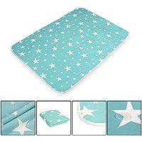 HAMIQI Cambiando la cubierta de la almohadilla, Alfombrilla impermeable, lavable y reutilizable para pañales para bebés y niños pequeños, Tamaño de S a XL