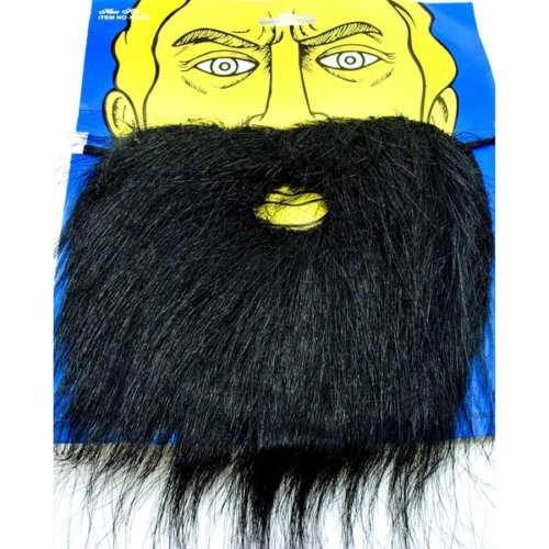 Schwarzen Falschen Bart für Verkleidung Kostüm (Black (Beard Black Kostüme)