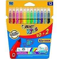 BIC Kids Kid Couleur - Blíster de 10 + 2 rotuladores de colorear para aprendizaje, multicolor