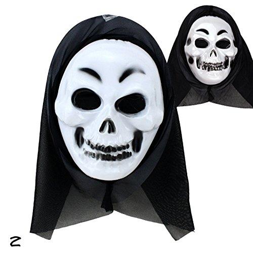 rungao Ghost Scream Gesicht Kostüm Party Kapuze Horror Halloween Maske Fancy stilvolle 02