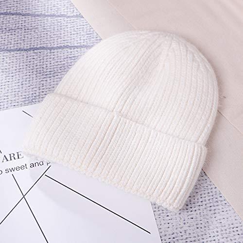 GYYCY Koreanische Flut Kaninchenfell Strickmütze Warmen Pullover Hut Mode Wilden Wollmütze