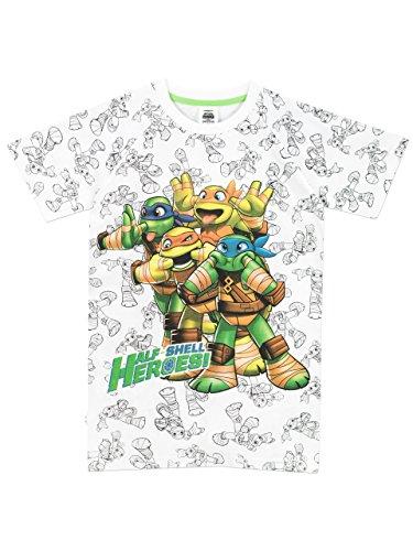 Teenage Mutant Ninja Turtles - Maglietta a maniche corta Ragazzi - Tartarughe Ninja - 5 - 6 Anni