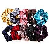 TAOtTAO Samtelastische Haarbänder für Frauen Oder Mädchen Zubehör Haargummis Bindet Seile Schrubben (10 pcs)
