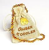 Collar de ámbar báltico, tamaño 31 – 33 cm, 100% natural y hecho a mano con cuentas de ámbar Amarillo