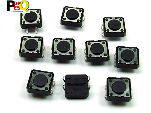 25-polig Switch Box (POPESQ® - 10 Stk. x Taster (12mm x 12mm) 4.3mm 4 polig THT Rundkopf / 10 pcs. x Momentary switch (12mm x 12mm) 4.3mm 4 way THT Roundhead #A2098)