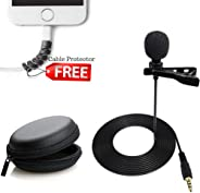 FreshDcart Mini Singing and Recording Mic Lavalier Lapel Microphone with Long Cable for Recording Singing Youtube on Smartph