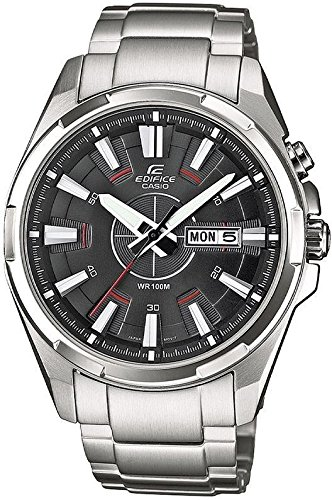 Casio Herren-Armbanduhr XL Edifice Analog Quarz Edelstahl EFR-102D-1AVEF
