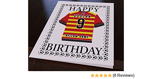Personalised Scotland Football Birthday Card
