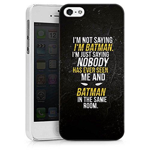 Apple iPhone 8 Tasche Hülle Flip Case Sprüche Batman Statement Hard Case weiß