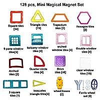 Set Giocattoli 128 Blocchi Magnetici Costruzione da Kurtzy   Crea cose divertenti con le nostre mattonelle magnetiche. Tieni insieme i pezzi e collegali tra loro grazie al magnetismo. Sia i bambini che le bambine si divertiranno creando cose diverse...