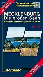 Nordland Karten, Mecklenburg, die großen Seen (Mecklenburgische Seenplatte)