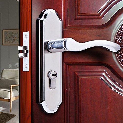 LSS Tirador de Puerta Cerradura Dormitorio Interior de Acero Inoxidable Cerradura de...