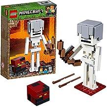 LEGO Minecraft BigFig Minecraft: Esqueleto con Cubo de Magma - Juguete de construcción y aventuras