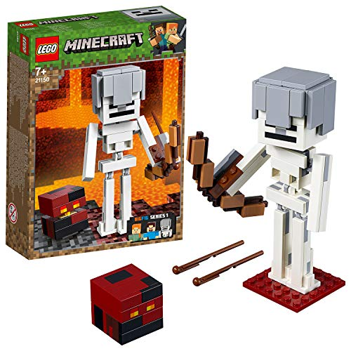 LEGO 21150 Minecraft BigFig Skeleton with Magma Cube Building Kit, Colourful Best Price and Cheapest