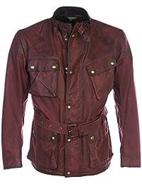 Belstaff Hombres chaqueta de trialmaster cera Cardenal Rojo