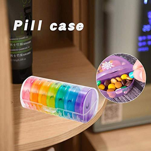 Yestter 2 X 7 Tage Pillenbox Pillenturm Medikamentenbox Tablettenbox Wochendispenser Wochendispenser Tage Handlicher Und Feuchtigkeitsbeständiger Medikamentenbox Für Die Hand- Oder Hosentasche Um VIT -