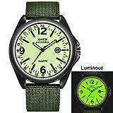 Herrenuhren,Gaddrt Militär Herren Quarz Army Watch schwarzes Zifferblatt Datum Luxus Sport Armbanduhr (E)