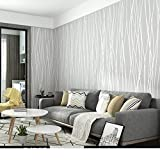 AIWQTO Selbst haftende tapeten Vlies Schlafzimmer Moderne Minimalistische Wand Aufkleber Volltonfarbe Wohnzimmer Ebene-C 53x500cm(21x197inch)