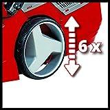 Einhell Akku Rasenmäher GE-CM 43 Li M Kit (Lithium-Ionen, 18 V, 4000 mAh, Schnittbreite 43 cm, 6-fache Schnitthöhenverstellung 25-75 mm, Fangbehältervolumen 63 l, inkl. 2 Akkus) - 3