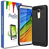 #9: POPIO Slim Rugged Shock Proof Bumper Armor Back Cover Case For Redmi Note 5 (Carbon Black)