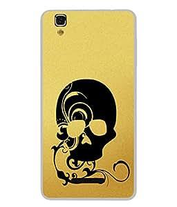 PrintVisa Designer Back Case Cover for YU Yurekha (smoky darken black shaded skull)