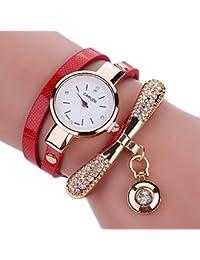 Colgante para Mujer Reloj de Pulsera Mujeres Moda Redondas Reloj de Pulsera  creativos Bead Colgante Relojes bb646bcb3530