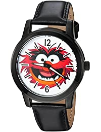 Disney Men's 'Muppets' Quartz Metal Casual Watch, Color:Black (Model: WDS000350)