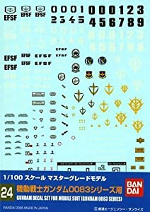 BANDAI Model Kit 34151 - 51598 Gundam Decal 24 - MG Multi 0083