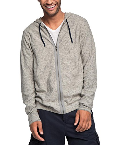 ESPRIT Herren Strickjacke 076EE2I018, Grau (Light Grey 040), Large