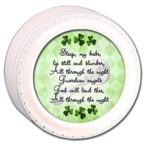 Cottage Garden Sleep My Babe Baby Gebet Irish Segen Elfenbein Musik Box spielt Irish Lullaby
