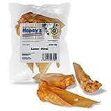 Hopey's, orecchie di agnello essiccate, snack naturale da masticare per cani, 50 g