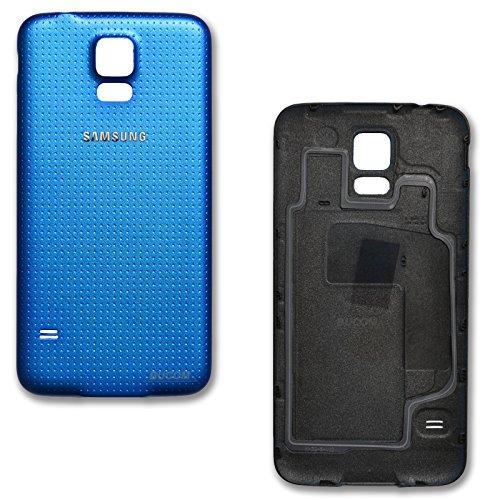 Akkudeckel Rückseite Rückschale Back Cover Rückwand für Samsung Galaxy S5 blau G900F G900I