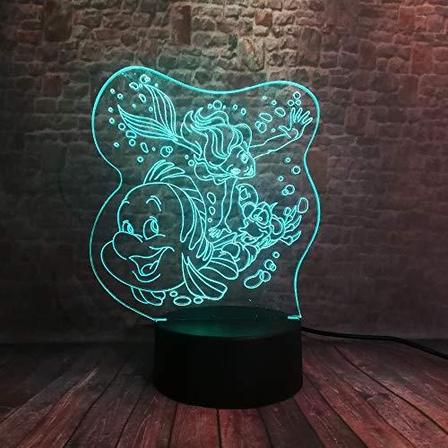achtlicht/led Tisch Schreibtisch Lampen / 7 Farben/home Dekoration/kinder Weihnachten/geburtstagsgeschenk/Die Kleine Meerjungfrau ()
