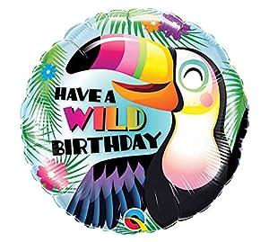 Unbekannt Globo de plástico con diseño de tukan, Ideal para cumpleaños o Fiestas