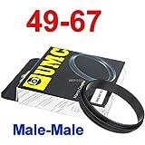 deep-deal Male 49mm-67mm 49-67 mm Macro Reverse Ring / reversing 67mm-49mm 67-49 , 49-67mm Bague de Macro Gros Plan Inverse, Métal Noir Anodisé Ring