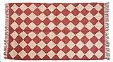 Indian handgefertigt Kelim Teppich Fußmatte Teppich Jute Handarbeit Ethnic Boden Teppich Boho Überwurf Große Fläche Flickenteppich Kilim Jute Teppich Hand gewebt Jute Teppich Jute Teppich für Wohnzimmer Home Decor 182,9x 101,6cm Kelim Teppich
