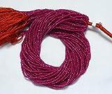 5fili rosa calcedonio Beads, micro, rondelle, rondelle calcedonio color rubino gemme sfaccettate perline filo di 34,3cm, 2.5mm