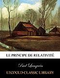 Le principe de relativité
