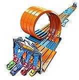 Hot Wheels Accessoires Méga Boite de Course Ultime, coffret de jeu pour petites voitures avec circuits et pistes, Jouet pour enfant, FTH77