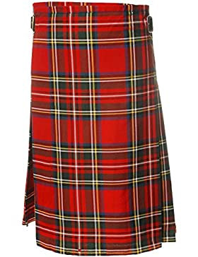 I Luv LTD Gents Lightweight Casual Party Kilt Stewart Royal 54-56